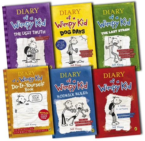 Diary Of A Wimpy Kid Collection 6 Books Set Rrp 4594 Ebay