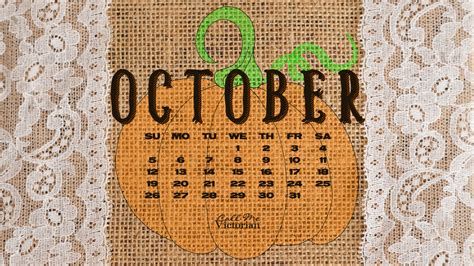 october  desktop calendar wallpaper call  victorian