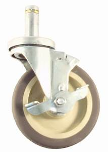 5drppb 5 U0026quot  Wire Post Stem Caster For Metro Shelves With