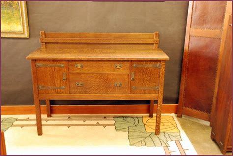 voorhees craftsman mission oak furniture  jg stickley strap hinge buffet sideboard