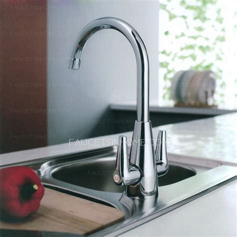 Inexpensive Kitchen Faucets by Inexpensive Brass Two Handle Vessle Mount Kitchen Faucets