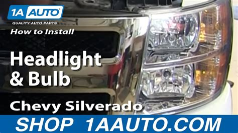 replace headlights bulbs   chevy silverado