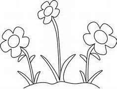 Black and White Flower Garden Clip Art - Black and White Flower Garden      Black And White Flowers Clipart