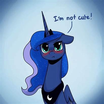 Luna Alicorn Princess Sunshine Pony Animated Blushing