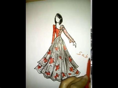 draw  girl beautiful dressfashion illustration