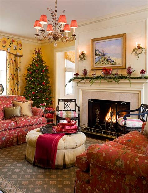 colorful christmas   colonial traditional home