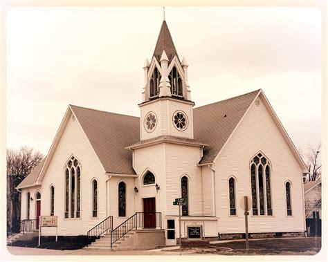 beautiful small town church st charles iowa parish