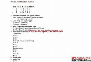 Auto Repair Manuals  Honda Civic 2012 Usa Workshop Manual
