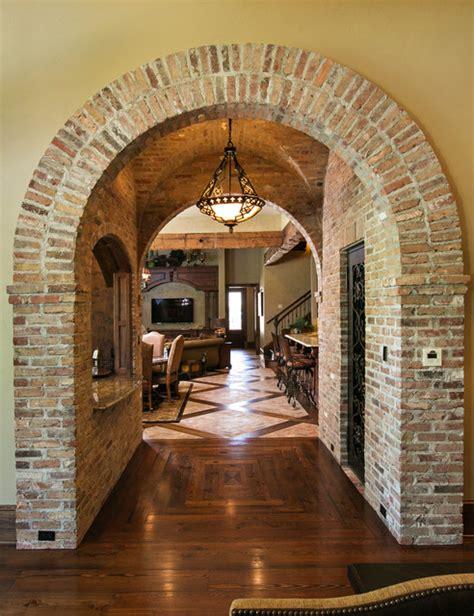 brick arch mediterranean hall  orleans  terry
