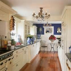 ideas for galley kitchen makeover blue and white galley kitchen kitchen decorating design ideas housetohome co uk