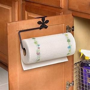 Spectrum Flower Over The Cabinet Door Paper Towel Holder