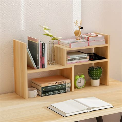 Desktop Bookcase by Creative Computer Desk Bookshelf Simple Shelf Small Office