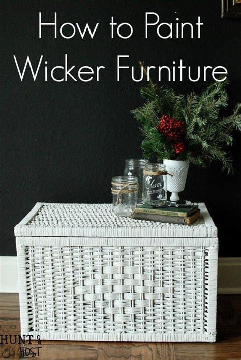 paint wicker furniture video tutorial diy rock