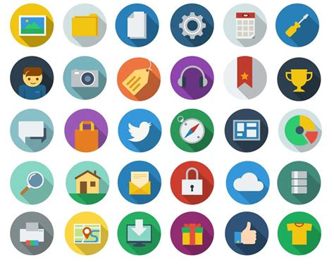 23 Best Flat Icon Packs In 2013