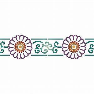 Border Stencils | Chrysanthemum Wall Stencil | Royal ...