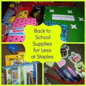Back to School Supplies at Staples