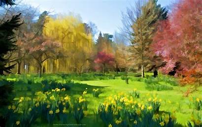 Spring Desktop Background Gardens Wallpapers Artistic Microsoft