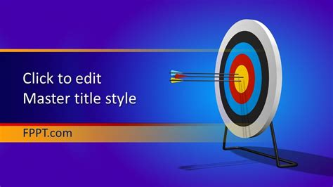Free Target PowerPoint Template - Free PowerPoint Templates