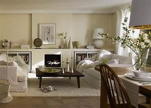 Wohnzimmer Mit Essbereich : dunkles wohnzimmer entdeckt den landhausstil sch ner wohnen ~ Watch28wear.com Haus und Dekorationen