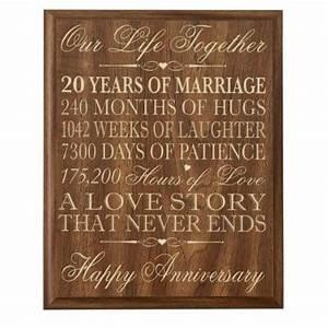amazoncom 20th wedding anniversary wall plaque gifts With 20th wedding anniversary gifts for her