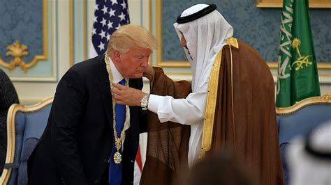 trump saudi arabia receives honor