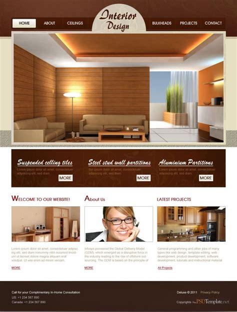 interior design website templates  local business