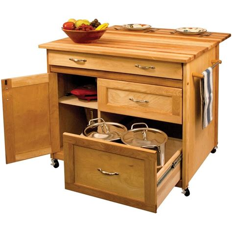 small portable kitchen island 40 quot catskill craftsmen portable kitchen island cart 15218