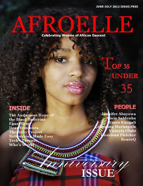 issu magazine issuu afroelle magazine 2012 anniversary issue by afroelle magazine