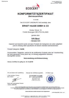 Internationaler Verband Der Naturtextilwirtschaft by Haase Textilausruestung