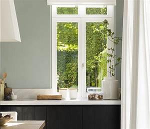 Peinture Vert De Gris : peinture murs et boiseries dulux valentine couture vert de ~ Melissatoandfro.com Idées de Décoration