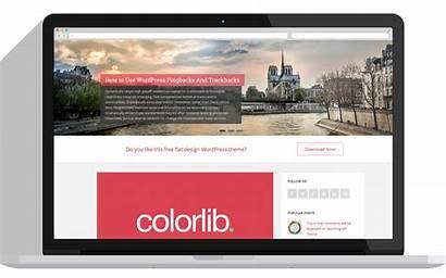 Wordpress Theme Sparkling Clean Colorlib Flat Minimal