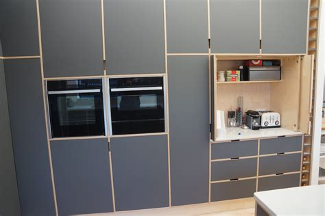 birch plywood cabinets  doors laminate covered doors