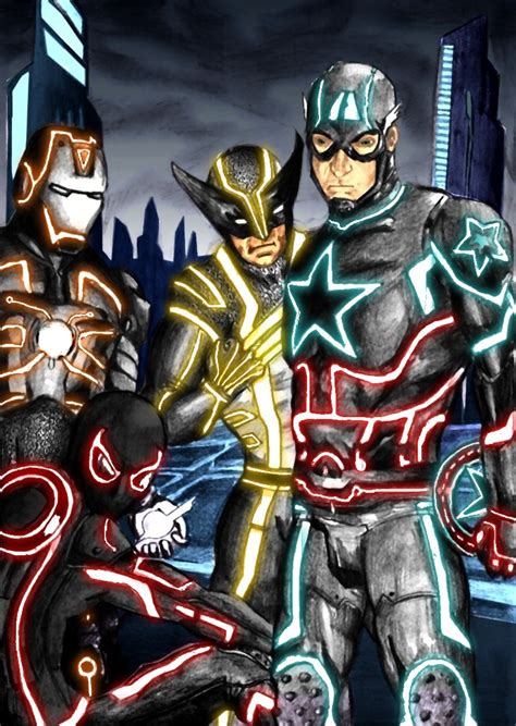 Marvel Tron by onchonch on DeviantArt