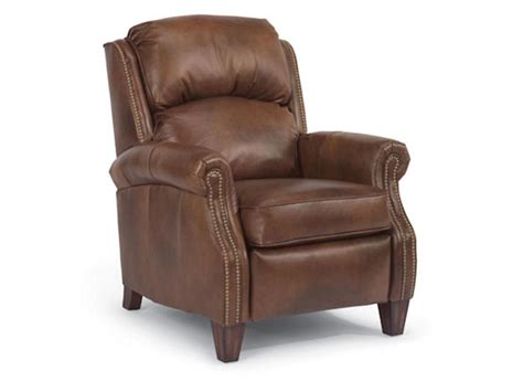 flexsteel living room leather high leg recliner 3056 503