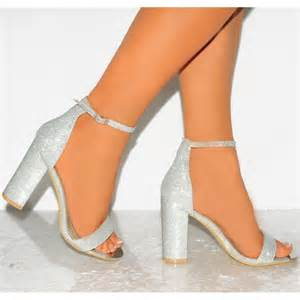 wedding shoes t bar heels silver glitter is heel