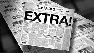 Newspaper Headline Template Extra Newspaper Headline Reveal And Loop Hd Animation