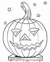 Pumpkin Coloring Pages Face Smile Maze Unicorn sketch template