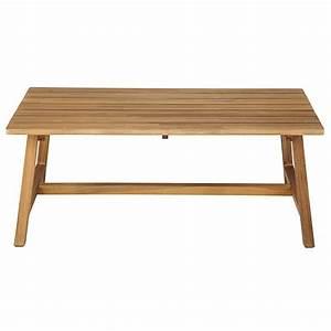 Table Jardin Acacia : table basse de jardin rectangulaire en acacia massif dakar maisons du monde ~ Teatrodelosmanantiales.com Idées de Décoration