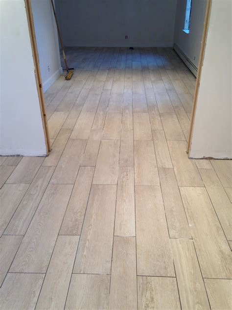 ceramic wood look flooring after remodel hallway house design with ceramic tile flooring that looks like wood planks and