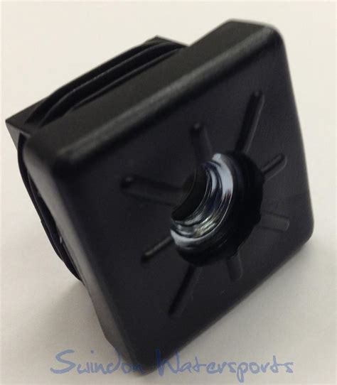 square leg foot insert m8 30mm square push fit for table