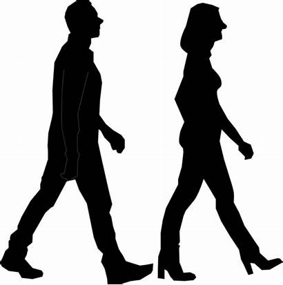 Walking Silhouette Transparent Clipart Person Couple Exercise