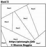 Quilt Block Pattern Crazy Patterns Template Coloring Pocket Sewing Pintangle sketch template