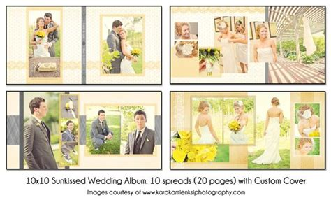 Psd Wedding Album Template Sunkissed 10x10 10spread 20 Wedding Florist Tucson Bath Bridal Expo Xl Center Vegas Appointment Sets With Colored Stones Los Angeles