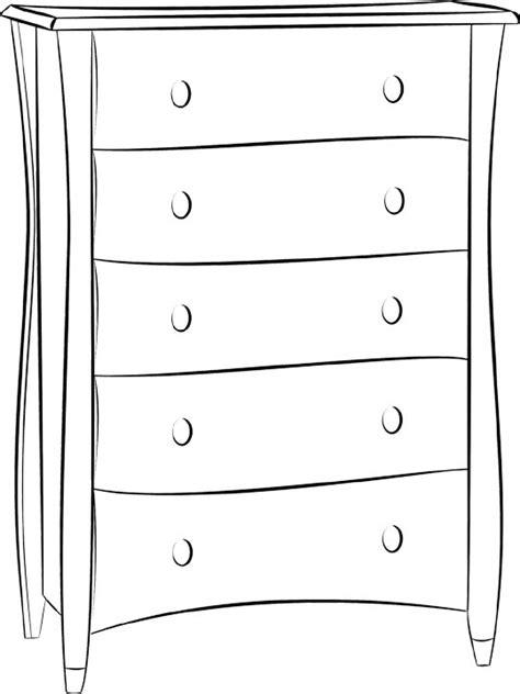 coloriage bureau dessin de meuble facile