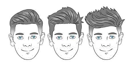 hairstyle   face shape man