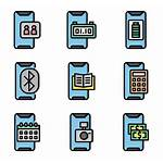 Mobile Application Icon App Packs Vector