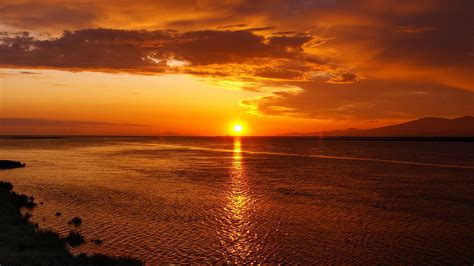 Beautiful Sunset And Sea Backgrounds Widescreen And Hd