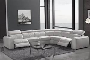 Canapé D Angle 7 Places : canap d 39 angle double relax en cuir de buffle italien de ~ Melissatoandfro.com Idées de Décoration