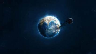 Asteroid Meteor Strike Planet Wallpapers Desktop Sfondi