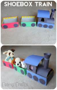 Baby Shower Activities For Kids by Shoebox Train Craft For Kids Cutesy Crafts